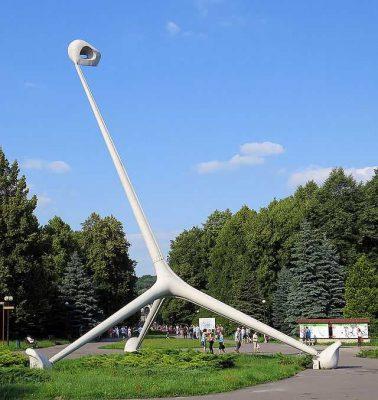 park śląski - rzeźba żyrafy