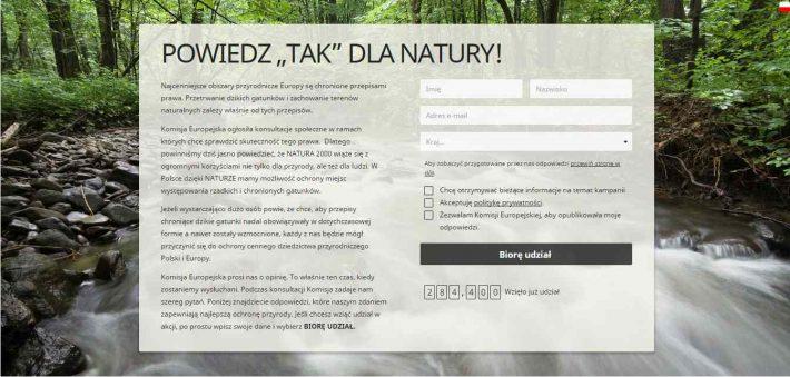 Powiedz TAK dla Natury