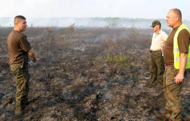pożar rezerwatu torfowisko karaska