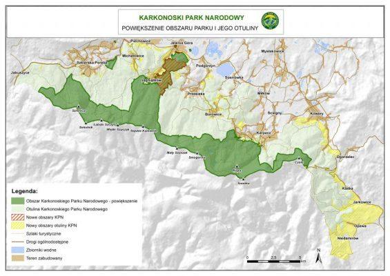 karkonoski park narodowy - poszerzenie granic